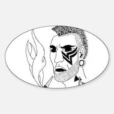 Modern Day Mohawk Sticker (Oval)