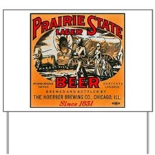 Illinois Beer Label 2 Yard Sign