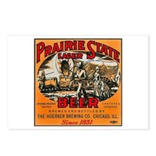 Illinois Beer Label 2 Postcards (Package of 8)