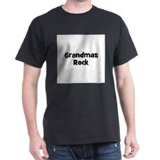 Grandmas Rock Black T-Shirt