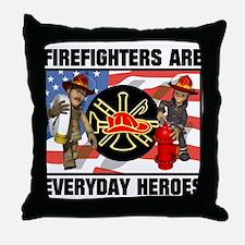 Firefighter Heroes Throw Pillow