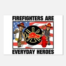 Firefighter Heroes Postcards (Package of 8)