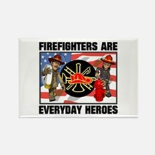 Firefighter Heroes Rectangle Magnet