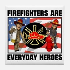 Firefighter Heroes Tile Coaster