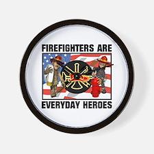 Firefighter Heroes Wall Clock
