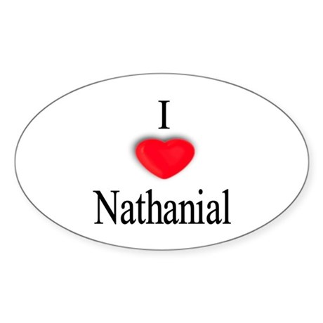 Nathanial Oval Sticker