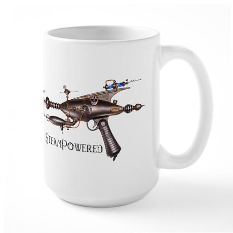 STEAMPUNK Steampowered Gun Large Mug