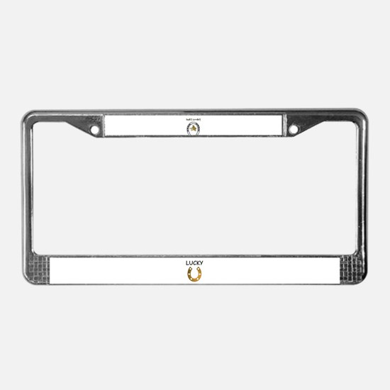 LUCKY COWBOY License Plate Frame
