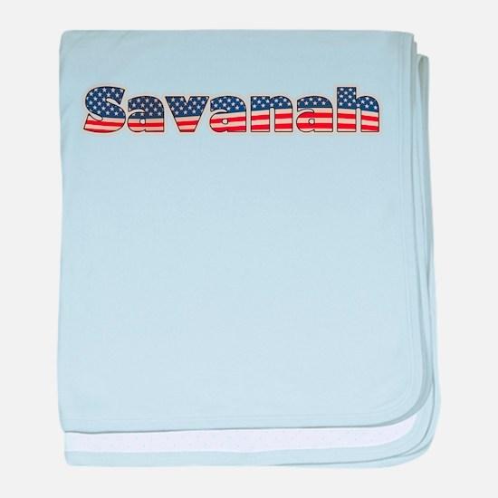 American Savanah baby blanket