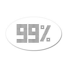99% people 22x14 Oval Wall Peel