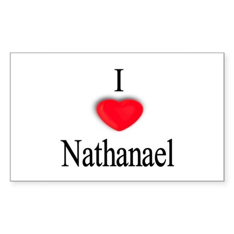 Nathanael Rectangle Sticker