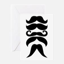 Handlebar Mustaches Steampunk Humor Greeting Card