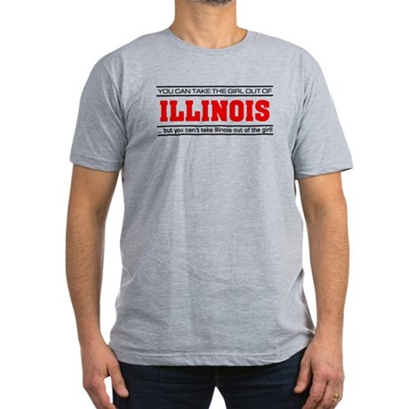 'Girl From Illinois' Men's Fitted T-Shirt (dark)