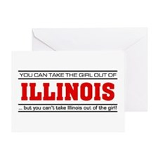 'Girl From Illinois' Greeting Card