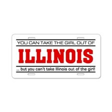 'Girl From Illinois' Aluminum License Plate