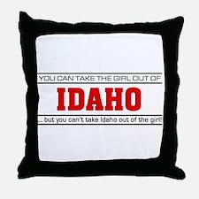 'Girl From Idaho' Throw Pillow