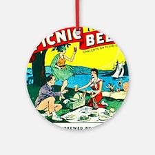 Wisconsin Beer Label 15 Ornament (Round)