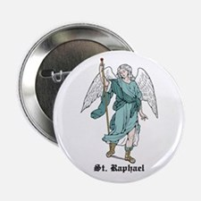 "St. Raphael 2.25"" Button (10 pack)"