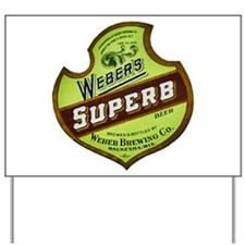 Wisconsin Beer Label 8 Yard Sign