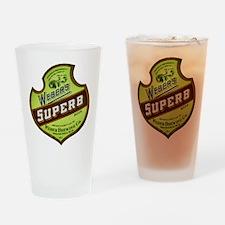 Wisconsin Beer Label 8 Drinking Glass