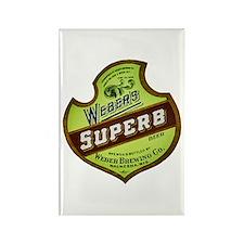 Wisconsin Beer Label 8 Rectangle Magnet