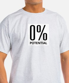 0% Potential Ash Grey T-Shirt