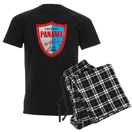 Panama Beer Label 1 Men's Dark Pajamas