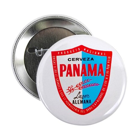 "Panama Beer Label 1 2.25"" Button"