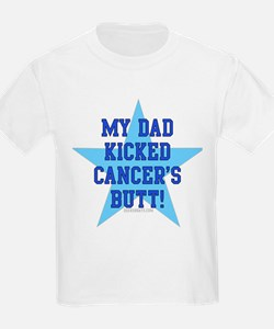 my dad kicked cancers butt Kids T-Shirt