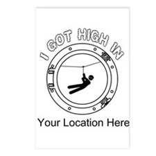 I Got High Zip (Personalized) Postcards (Package o