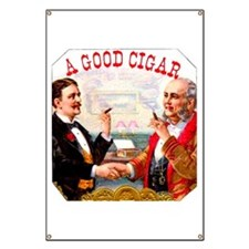 A Good Cigar Label Banner