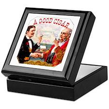 A Good Cigar Label Keepsake Box