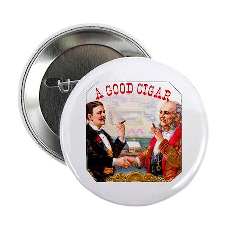 "A Good Cigar Label 2.25"" Button (10 pack)"