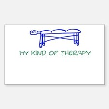 My Kind of Therapy Rectangle Decal