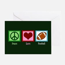 Peace Love Football Greeting Card