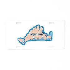 Edgartown MA - Map Design Aluminum License Plate