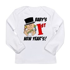 Baby's First New Year's Long Sleeve Infant T-Shirt