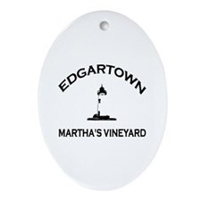 Edgartown MA - Lighthouse Design. Ornament (Oval)