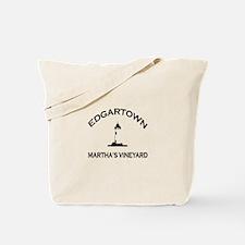 Edgartown MA - Lighthouse Design. Tote Bag