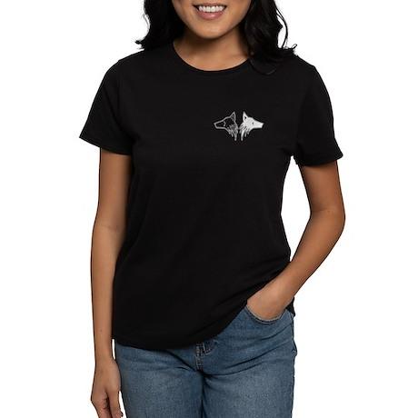 Two Wolves Women's Dark T-Shirt