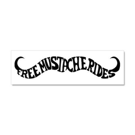 Mustache Rides Car Magnet - 10x3