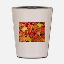 Autumn Leaves Fall Shot Glass