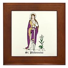 St. Philomena Framed Tile