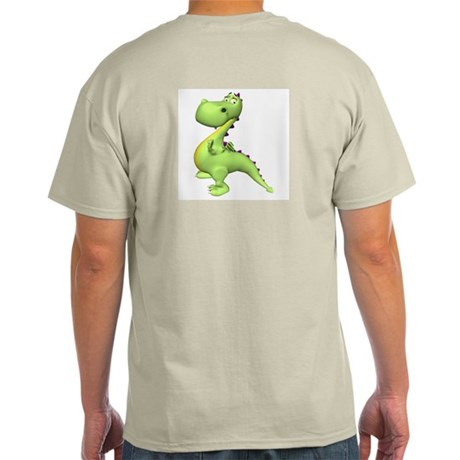 Puff The Magic Dragon - Green Ash Grey T-Shirt