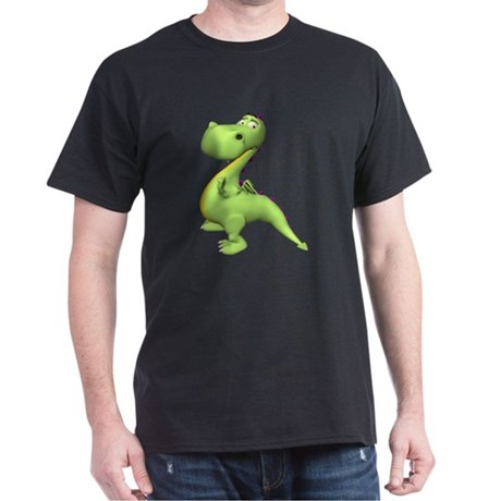 Puff The Magic Dragon - Green Black T-Shirt