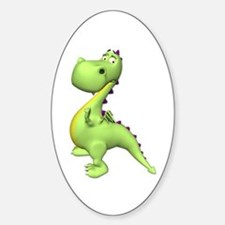 Puff The Magic Dragon - Green Oval Decal