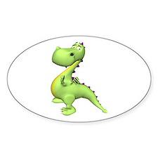 Puff The Magic Dragon - Green Oval Decal