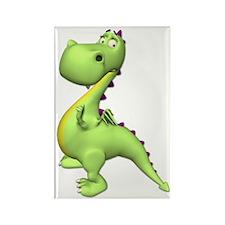 Puff The Magic Dragon - Green Rectangle Magnet