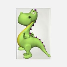 Puff The Magic Dragon - Green Rectangle Magnet (10
