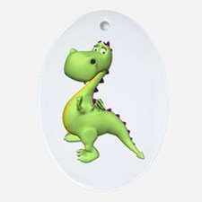 Puff The Magic Dragon - Green Oval Ornament